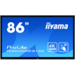 "iiyama ProLite TE8603MIS-B1AG touch screen monitor 2.17 m (85.6"") 3840 x 2160 pixels Black Multi-touch Multi-user"