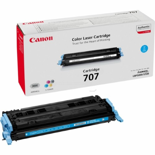 Canon 9423A004 (707C) Toner cyan, 2K pages @ 5% coverage