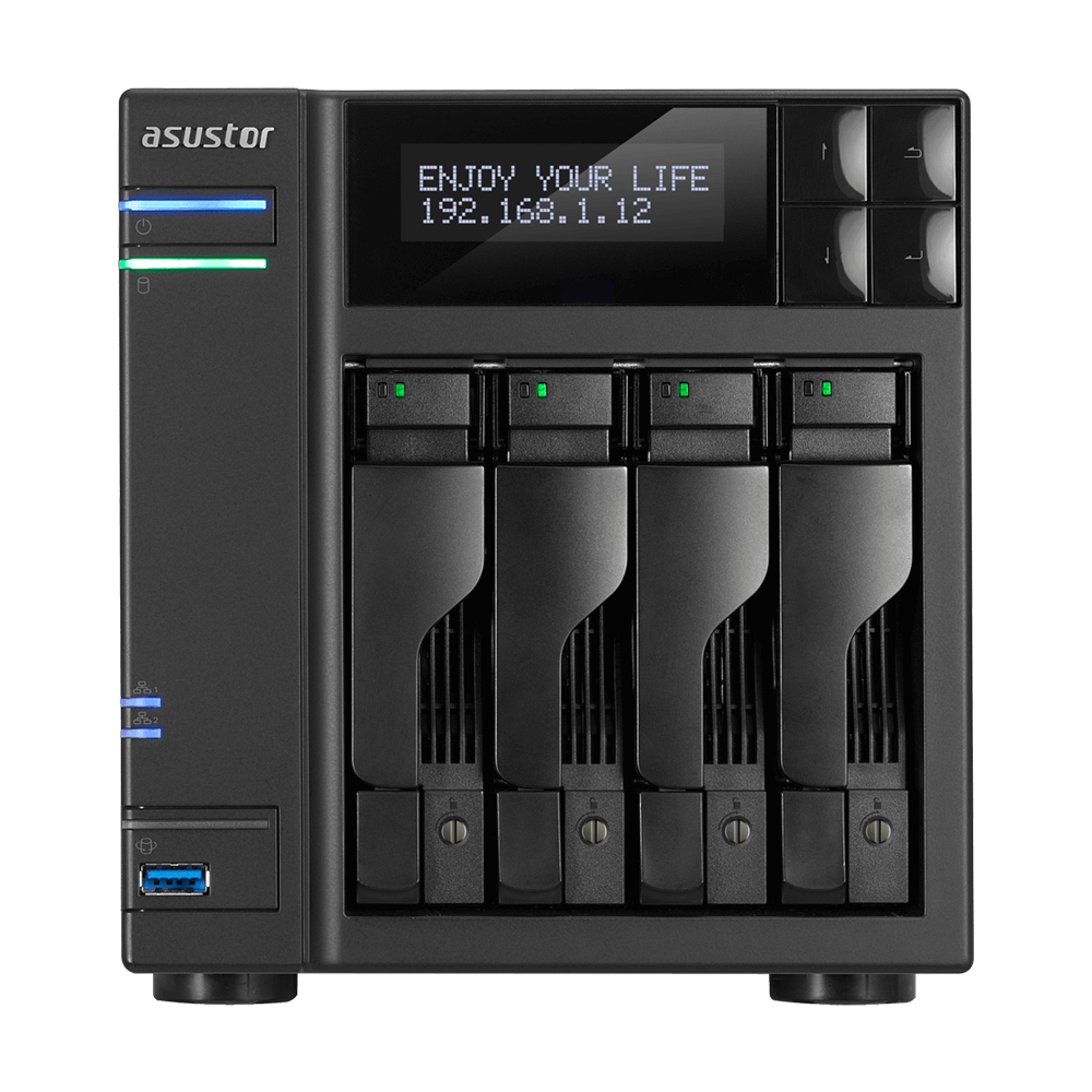 Asustor AS6404T NAS/storage server Ethernet LAN Black