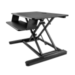 "StarTech.com Sit Stand Desk Converter with Keyboard Tray - Large 35"" x 21"" Surface - Height Adjustable Ergonomic Desktop/Tabletop Standing Workstation - Holds 2 Monitors - Pre-Assembled"