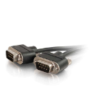 """C2G 25ft DB9 serial cable Black 300"""" (7.62 m)"""