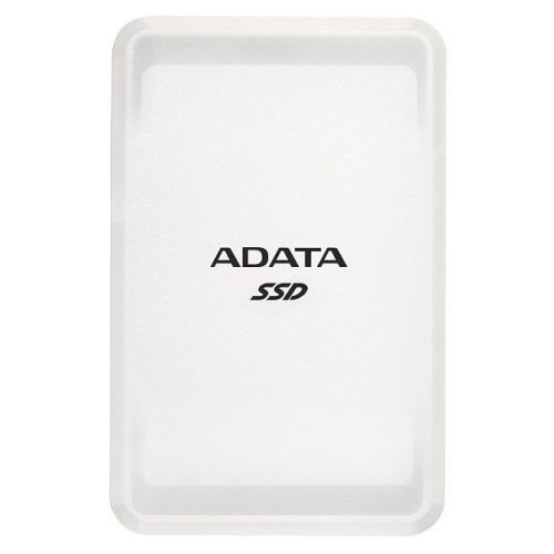 ADATA SC685 2TB External SSD, USB-C (USB-A Adapter), 3D NAND, Windows/Mac/Android Compatible, White