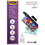 FELLOWES LAMINATING POUCH A4 80 MICRON GLOSS PACK 50
