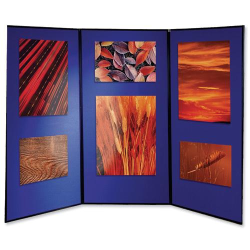 Nobo Showboard Extra 4 Panel Blue/Grey