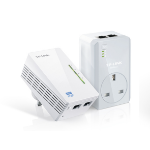TP-LINK AV600 WI-Fi Powerline KIT with 2 ports 600Mbit/s Ethernet LAN Wi-Fi White 2pc(s) PowerLine network adapter