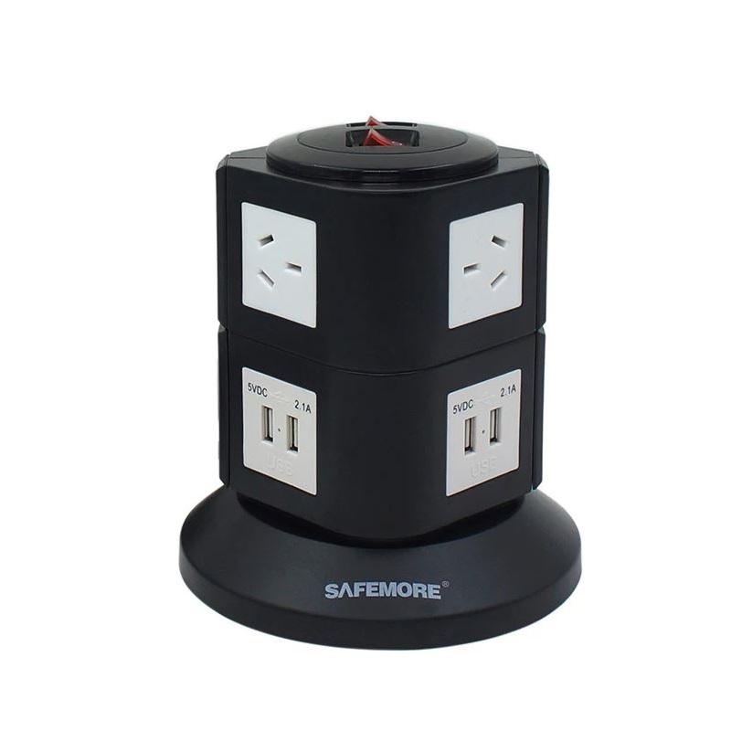 Safemore 2-Level Power Stacker Power Board (Black/White)