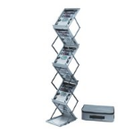 Deflecto A4 Portrait Folding Floor Stand 6 Shelves 36100