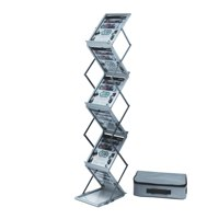 Deflecto A4 Portrait Folding Floor Stand 6 Shelves 36100