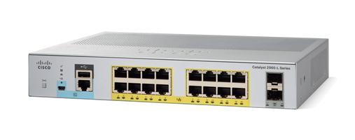 Cisco Catalyst 2960L-16PS-LL Gestionado L2 Gigabit Ethernet (10/100/1000) Gris 1U Energía sobre Ethernet (PoE)