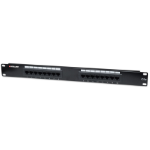 Intellinet Patch Panel, Cat5e, UTP, 16-Port, 1U, Black