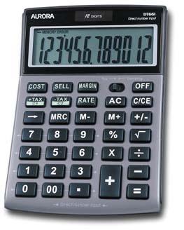 Aurora DT661 calculator Desktop Silver