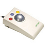 Pretorian Technologies LTD Optima Light Touch Trackball. PS2 and USB connection for use with PC computers. Low profile and larg