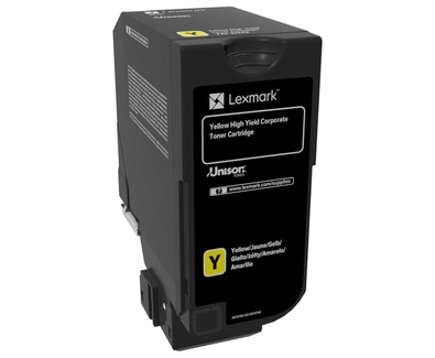 Lexmark 74C2HYE Cartridge Yellow laser toner & cartridge