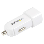 StarTech.com Dual-Port USB Car Charger - 17W/3.4A - White