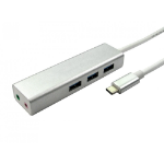 Cables Direct USB3C-3PHUB-AUD interface hub USB 3.0 (3.1 Gen 1) Type-C Aluminium
