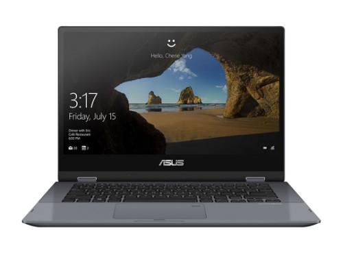 "ASUS VivoBook Flip TP412UA-EC140T notebook Grey Hybrid (2-in-1) 35.6 cm (14"") 1920 x 1080 pixels Touchscreen 8th gen Intel® Core™ i5 i5-8250U 4 GB LPDDR4-SDRAM 128 GB SSD Windows 10 Home"