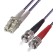 Connekt Gear 3M Purple ST to LC 50/125 Micron OM4 Duplex Fibre Optic Patch Cable MultiMode