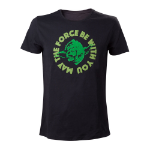 Star Wars Adult Male Yoda....'May The Force Be With You' T-Shirt, Extra Large, Black (TS080704STW-XL)
