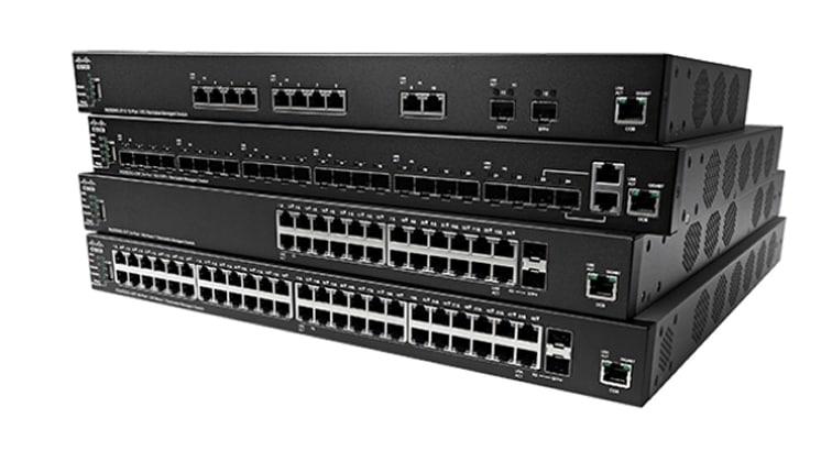 Cisco SX350X-24-K9-EU switch Gestionado L2/L3 10G Ethernet (100/1000/10000) Negro