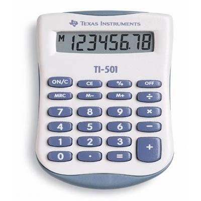 Texas Instruments TI-501 calculator Pocket Basic Grey,White