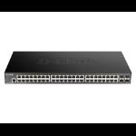 D-Link DGS-1250-52X network switch Managed L3 Gigabit Ethernet (10/100/1000) Black