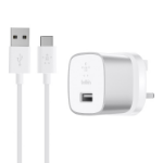 Belkin F7U034dr04-SLV Indoor Silver, White mobile device charger