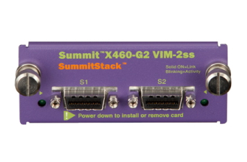 Extreme networks X460-G2 VIM-2ss network switch module