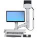 Ergotron StyleView Carro para administración de tabletas Blanco PC