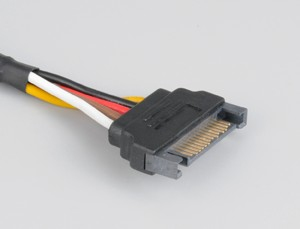 Akasa Sata Extension power cable Black 0.3 m