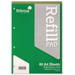 Silvine A4 Refill Pad Narrow Ruled PK6