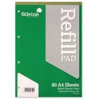 Silvine A4 Refill Pad Narrow Ruled PK6