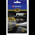 Verbatim Pro+ Micro SDHC 32GB 32GB MicroSDHC UHS-I Class 10 memory card 44033