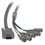 C2G Video HD15M / 5-BNC M cable 2m VGA (D-Sub) 5 x BNC Grey