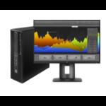 HP Z 240 SFF + Z24nf 3.4GHz i7-6700 SFF Black Workstation