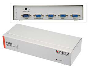 Lindy 4 Port VGA Splitter Pro