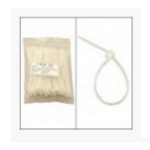 Unirise ZIP-08IN-100PKCL Nylon White 100pcs Cable Tie