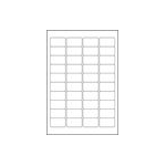 Avery White Mini Label - Inkjet - J8654