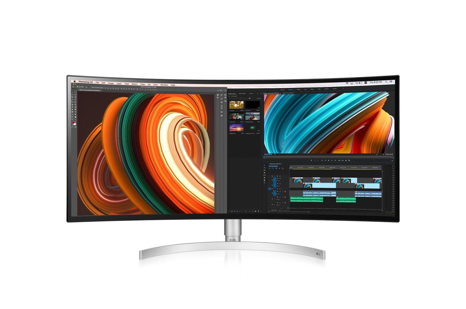 "LG 34WK95C-W LED display 86.4 cm (34"") UltraWide Quad HD Curved Matt White"
