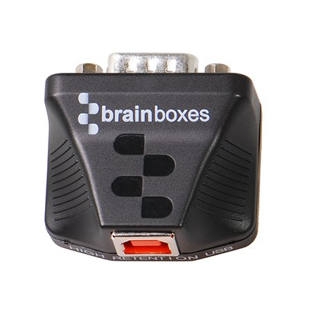 Brainboxes US-235 cable interface/gender adapter RS232 USB Black