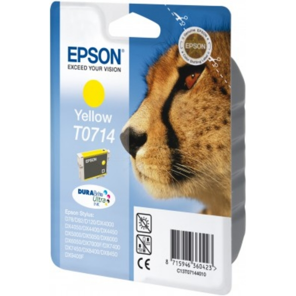 Epson C13T07144011 (T0714) Ink cartridge yellow, 415 pages, 6ml