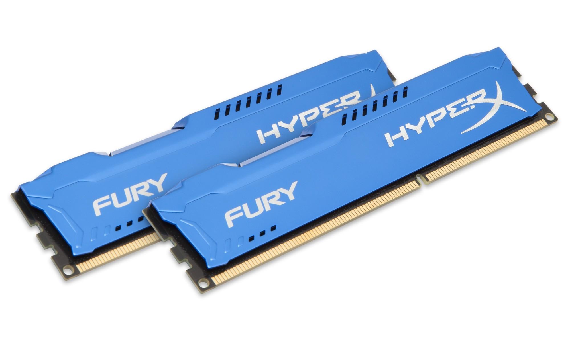 HyperX FURY Blue 8GB 1600MHz DDR3 módulo de memoria 2 x 4 GB