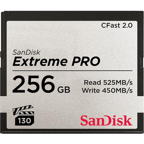 Sandisk Extreme Pro memoria flash 256 GB CFast 2.0