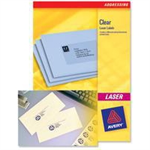 Avery L7553-25 self-adhesive label Transparent 1200 pc(s)