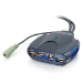 C2G Trulink 2-Port VGA and USB Micro KVM with Audio KVM switch Blue