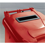 FSMISC 120L LOCKED RED WHEELIE BIN 377902 02