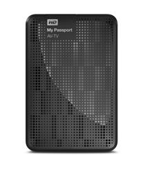 Western Digital My Passport AV-TV 1TB disco duro externo 1000 GB Negro