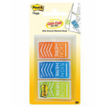 3M 682-SH-OBL POST-IT SIGN HERE FLAGS ORANGE/BLUE/LIME PACK 60
