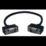 """QVS CC388M1-01 VGA cable 11.8"""" (0.3 m) VGA (D-Sub) Black"""