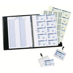 Durable Visitors Book Refill of 100 W90xH60mm 80gsm Badge Inserts Ref 1464-00