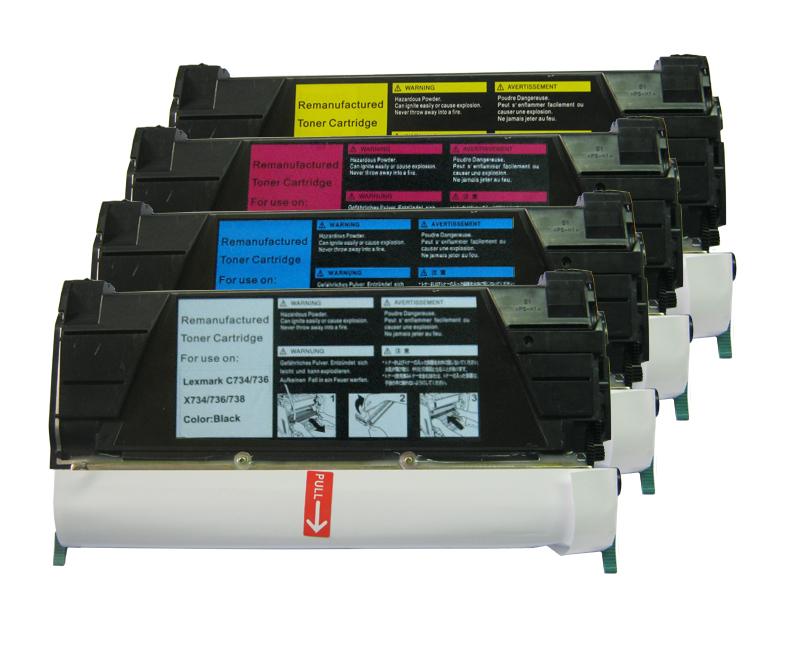 Remanufactured Lexmark C734A2CG Cyan Toner Cartridge